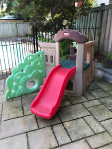 Little Tikes Castle Slide with Climbing Wall and Telescope!