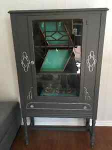 Refinished antique display cabinet
