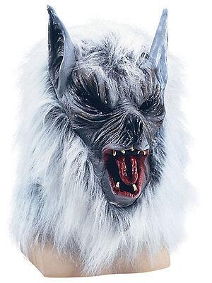 Scary Grey Wolf Werewolf Latex Mask Animal Horror Halloween Fancy Dress Prop New ()