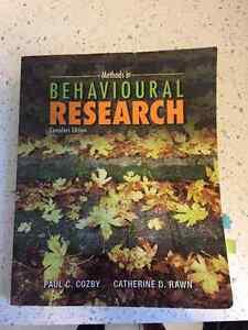 Methods in Behavioural Research Textbook