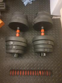 30KG Adjustable Dumbell Set