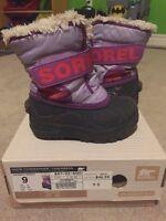 Sorel boots girls toddler size 9