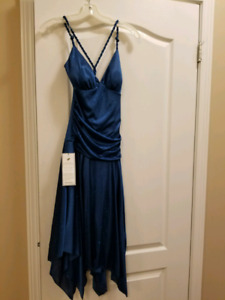 Sparkly Blue Criss Cross Back Dress Size 9/10