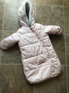 Ensemble hiver bébé 1 pièce rose 0-6 mois