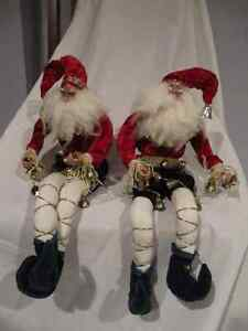 Funny Christmas Elf decoration 'dolls' with bells