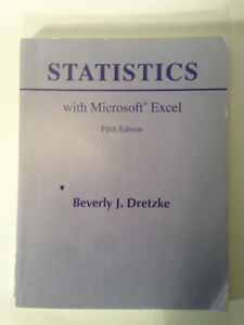 Statistics with Microsoft Excel. 5th Ed. by Beverly Dretzke