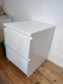 IKEA Malm bedside table - white x2