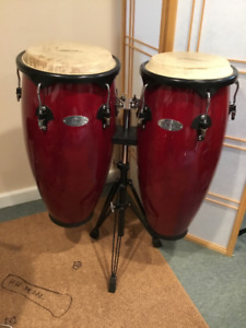 Synergy Congas with stand, excellent condition