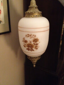 GREATLY REDUCED $ - Hand Painted  Pendant Lamps