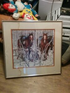 Bev Doolittle Framed Native Horse Art