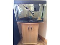 64 Litre Panoramic Tropical Fish Tank with Stand and other bits