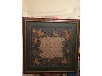Large stitched design with frame