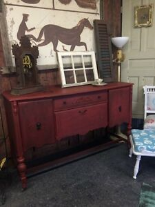 ANTIQUE REFINISHED SIDEBOARD $460