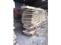 Elm oak ash cherry planked timber