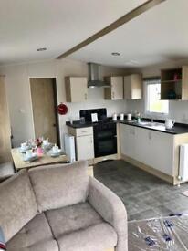 Brand new central heated double glazed static caravan , Ayrshire coast