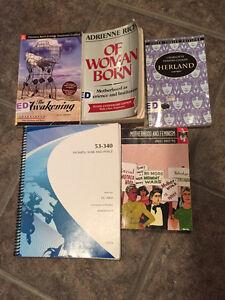 UNIVERSITY OF WINDSOR WOMEN'S STUDIES BOOKS