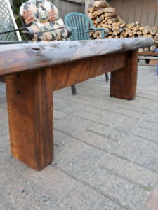 Rustic live edge benches