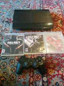 Ps3 super slim 500GB + controller + games