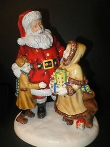 Royal Doulton Father Christmas sharing the moment