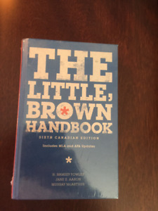 Textbook, UFV, The Little Brown Handbook, sixth Canadian edition