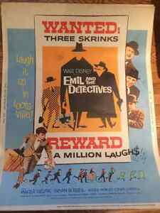 Four 1960s Theatrical Walt Disney Presents Movie Posters