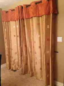 "Patio door curtains 6ft & matching 42"" window treatment"