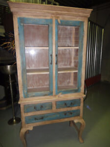 rustic hutch display cabinet  calls only