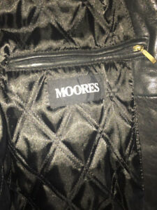 MOORES BLACK LEATHER JACKET