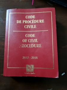 Code de procedure civil 2017-18