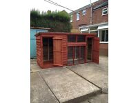 Dog kennel / run 11ft X 4ft X 6ft