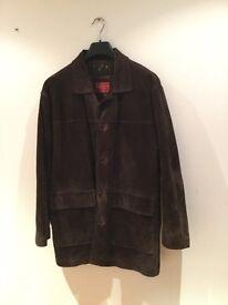 Men's Burton real leather dark brown (Suede looking) jacket - large