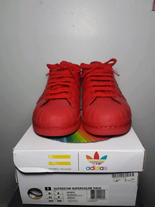 Adidas pharrell superstar colours size 8.5 fits like a 9