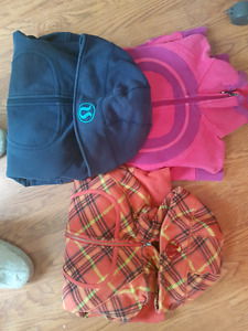 3 lululemon hoodies