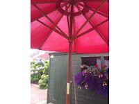 Picnic table bench & parasol