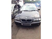 2004 BMW 4 DOOR SALOON BLACK PETROL 1.8**FOR BEARKING**