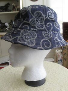 VINTAGE PULL-ON DENIM-STYLE BRIMMED PLEASURE HAT