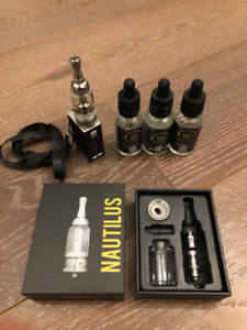 ASPIRE Nautilus Vape with extra coil and three Crystal Clear 180