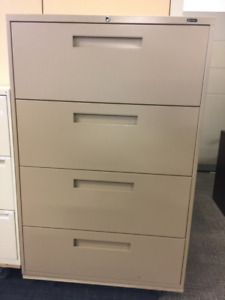 AUGUST FEATURE- Global 9300 4 Drawer Lateral Filing Cabinet $200