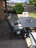 Beautiful patio set with 6 chairs