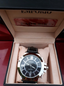 Emporio watches.