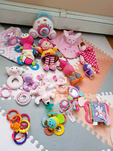 Large baby toy lot girl/pink