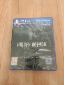 Hidden Agenda PS4 PlayStation 4 Brand New only £7
