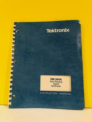 Tektronix 070-6945-00 Dm 504a Auto Ranging Digital Multimeter Instruction Manual
