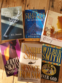 Fiction books, various prices each