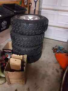 2004 TJ rubicon rims with Tires