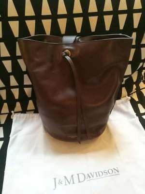 NEW J&M DAVIDSON Large Equesta burgundy leather handbag £1050 MADE IN ITALY