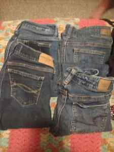 Girls jeans, tights, track pants, skirt, lulu shorts