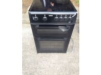 Beko 60 cm electric cooker black in mint condition with a warranty