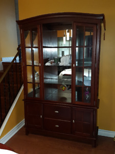 Cherry Wood Dining Hutch