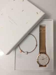 ROSEFIELD WATCH Rose Gold Two-Piece 38mm